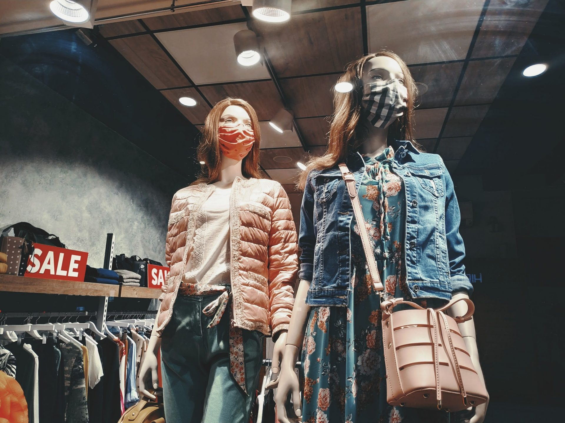 , Mannequins with face masks, Micropreneur Life